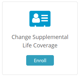 Change Supplemental Life Coverage Tile