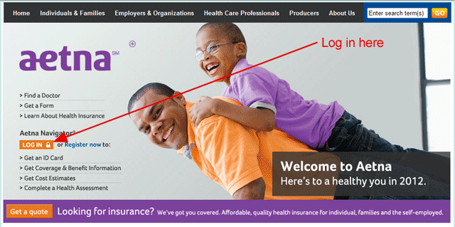 aetna homepage